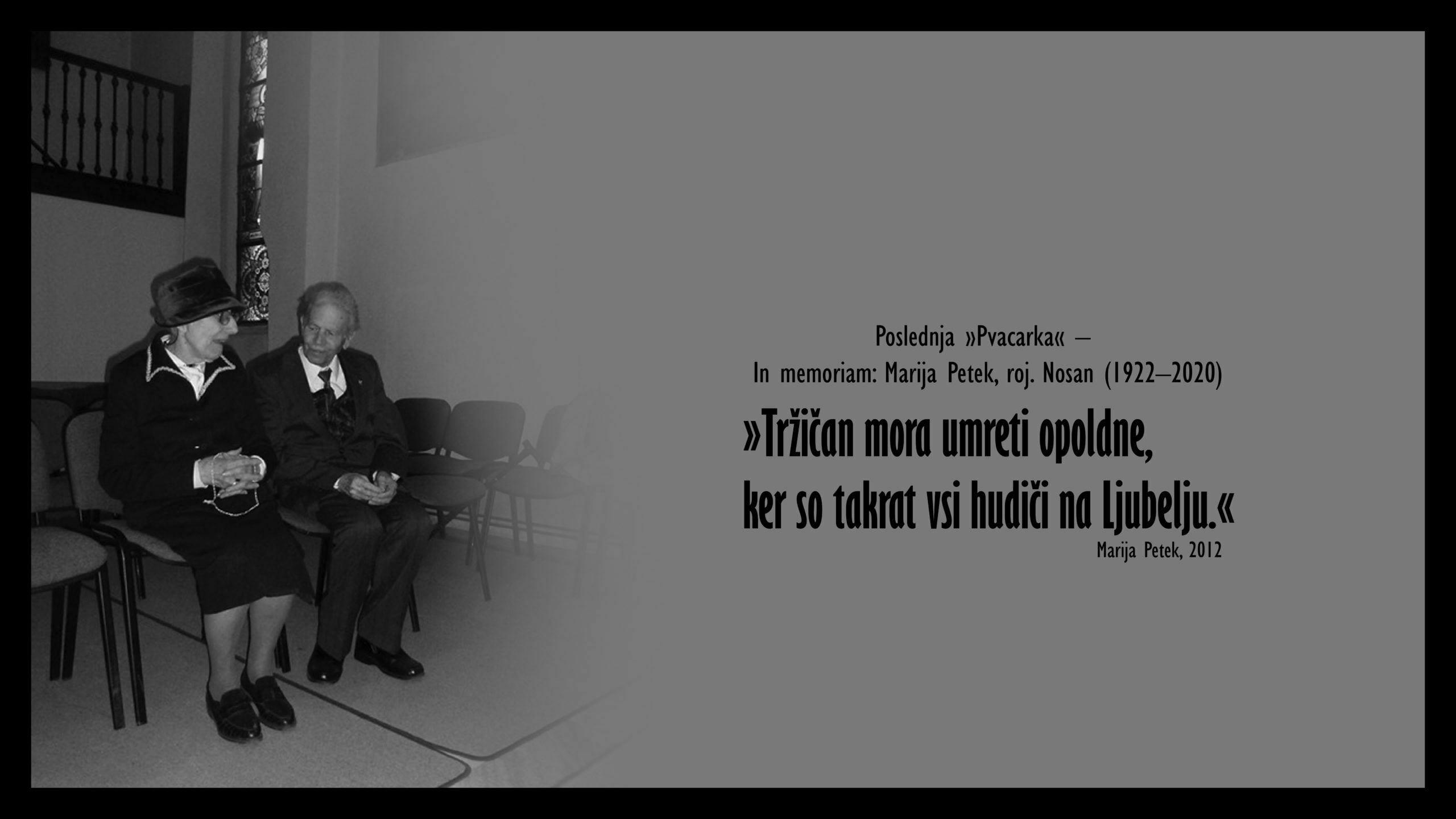 Marija Petek - In memoriam